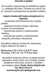 Polish Classes Flyer